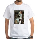 Ophelia & Border Collie White T-Shirt