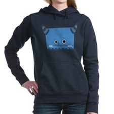 Blue Horned Monster Hooded Sweatshirt