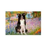 Garden & Border Collie Rectangle Magnet