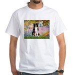 Garden & Border Collie White T-Shirt