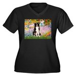 Garden & Border Collie Women's Plus Size V-Neck Da