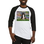 Lilies & Border Collie Baseball Jersey
