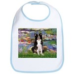 Lilies & Border Collie Bib