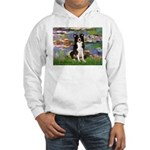 Lilies & Border Collie Hooded Sweatshirt