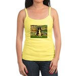 Lilies & Border Collie Jr. Spaghetti Tank