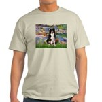 Lilies & Border Collie Light T-Shirt