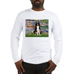 Lilies & Border Collie Long Sleeve T-Shirt