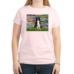 Lilies & Border Collie Women's Light T-Shirt