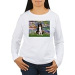 Lilies & Border Collie Women's Long Sleeve T-Shirt