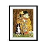 The Kiss & Border Collie Framed Panel Print