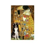 The Kiss & Border Collie Rectangle Magnet (10 pack