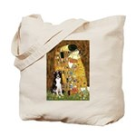 The Kiss & Border Collie Tote Bag