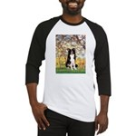 Spring & Border Collie Baseball Jersey