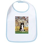 Spring & Border Collie Bib