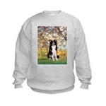 Spring & Border Collie Kids Sweatshirt