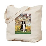 Spring & Border Collie Tote Bag
