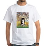 Spring & Border Collie White T-Shirt