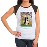 Spring & Border Collie Women's Cap Sleeve T-Shirt
