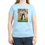 Spring & Border Collie Women's Light T-Shirt