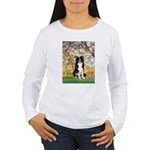 Spring & Border Collie Women's Long Sleeve T-Shirt