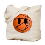 Basketball Smiley Tote Bag