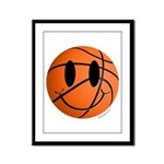 Basketball Smiley Framed Panel Print