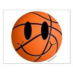 Basketball Smiley Small Poster