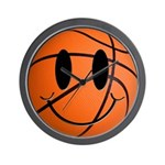 Basketball Smiley Wall Clock