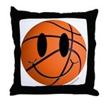 Basketball Smiley Throw Pillow