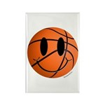 Basketball Smiley Rectangle Magnet (100 pack)