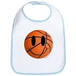 Basketball Smiley Bib