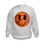 Basketball Smiley Kids Sweatshirt