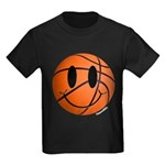 Basketball Smiley Kids Dark T-Shirt