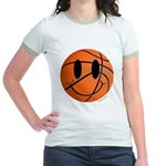 Basketball Smiley Jr. Ringer T-Shirt