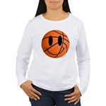 Basketball Smiley Women's Long Sleeve T-Shirt
