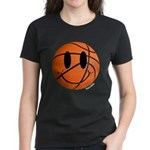 Basketball Smiley Women's Dark T-Shirt