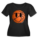 Basketball Smiley Women's Plus Size Scoop Neck Dar