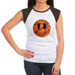 Basketball Smiley Women's Cap Sleeve T-Shirt