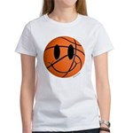 Basketball Smiley Women's T-Shirt