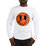 Basketball Smiley Long Sleeve T-Shirt