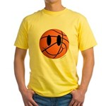 Basketball Smiley Yellow T-Shirt