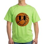 Basketball Smiley Green T-Shirt