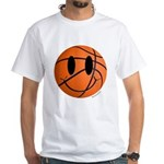 Basketball Smiley White T-Shirt