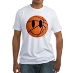 Basketball Smiley Fitted T-Shirt