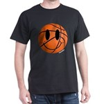 Basketball Smiley Dark T-Shirt