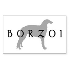 borzoi dog breed Rectangle Decal