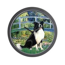 Bridge & Border Collie Wall Clock