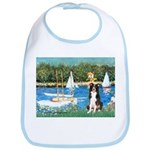 Sailboats & Border Collie Bib