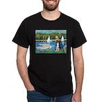Sailboats & Border Collie Dark T-Shirt