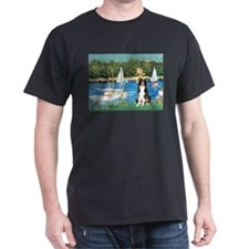 Sailboats & Border Collie T-Shirt